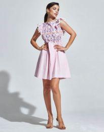 Φόρεμα - κώδ. 1482 - 1 - ροζ