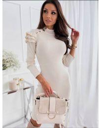 Φόρεμα - κώδ. 2915 - 2 - λευκό