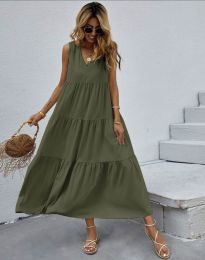 Φόρεμα - κώδ. 2743 - λαδί