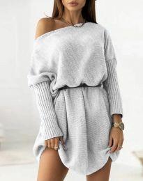 Φόρεμα - κώδ. 6940 - γκρι