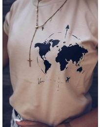 Κοντομάνικο μπλουζάκι - κώδ. 478 - 3 - καπουτσίνο