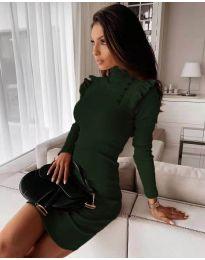 Φόρεμα - κώδ. 8484 - σκούρο πράσινο