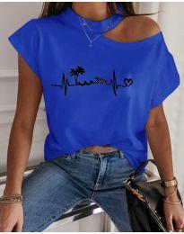 Κοντομάνικο μπλουζάκι - κώδ. 206 - μπλε