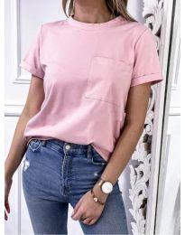 Κοντομάνικο μπλουζάκι - κώδ. 3727 - ροζ