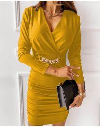 Φόρεμα - κώδ. 8999 - κίτρινο