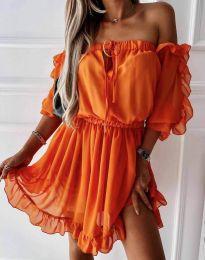 Φόρεμα - κώδ. 0223 - πορτοκαλί