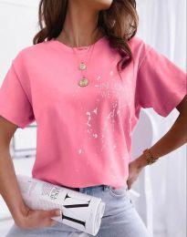 Κοντομάνικο μπλουζάκι - κώδ. 0401 - ροζ