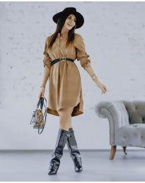Φόρεμα - κώδ. 9601 - καφέ