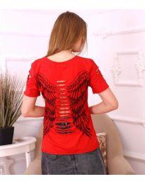 Κοντομάνικο μπλουζάκι - κώδ. 3567 - κόκκινο