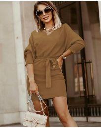 Φόρεμα - κώδ. 9876 - καφέ