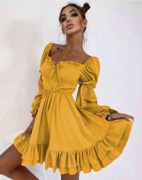 Φόρεμα - κώδ. 8469 - μουσταρδί