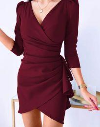 Φόρεμα - κώδ. 32897 - μπορντό