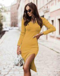 Φόρεμα - κώδ. 6593 - μουσταρδί