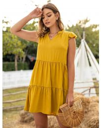 Φόρεμα - κώδ. 696 - μουσταρδί