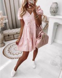 Φόρεμα - κώδ. 8292 - ανοιχτό ροζ