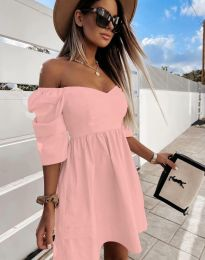 Φόρεμα - κώδ. 7413 - ροζ
