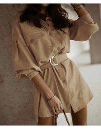 Φόρεμα - κώδ. 6461 - καπουτσίνο
