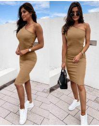 Φόρεμα - κώδ. 0208 - καφέ