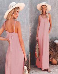 Φόρεμα - κώδ. 4673 - ανοιχτό ροζ