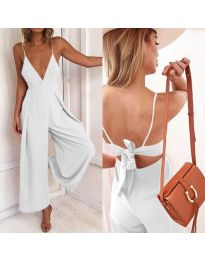 Κομψή ολόσωμη φόρμα σε λευκό - κωδ.720