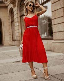 Φόρεμα - κώδ. 1249 - κόκκινο