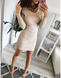 Φόρεμα - κώδ. 3298 - μπεζ