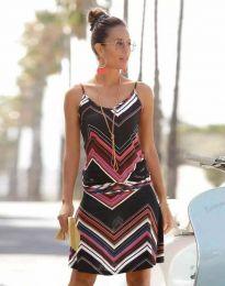 Φόρεμα - κώδ. 1256 - 1 - πολύχρωμο