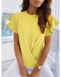 Κοντομάνικο μπλουζάκι - κώδ. 515 - κίτρινο