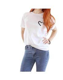 Κοντομάνικο μπλουζάκι - κώδ. 3599 - λευκό