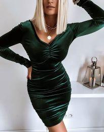 Φόρεμα - κώδ. 12080 - σκούρο πράσινο