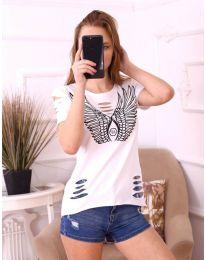 Κοντομάνικο μπλουζάκι - κώδ. 3567 - λευκό