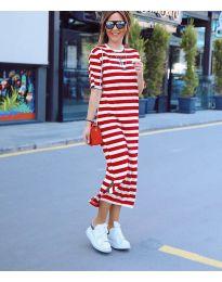 Φόρεμα - κώδ. 9910 - κόκκινο