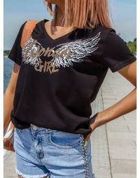Κοντομάνικο μπλουζάκι - κώδ. 4261 - μαύρο