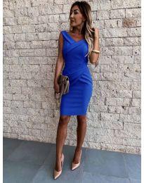 Φόρεμα - κώδ. 1104 - σκούρο μπλε