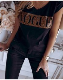 Κοντομάνικο μπλουζάκι - κώδ. 2621 - μαύρο