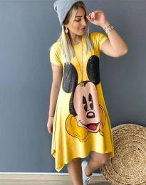 Φόρεμα - κώδ. 2304 - 5 - κίτρινο
