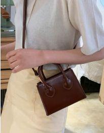 Τσάντα - κώδ. B421 - σκούρο καφέ