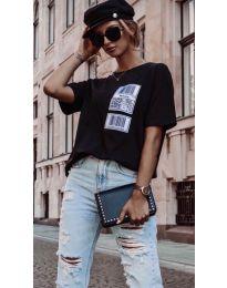 Κοντομάνικο μπλουζάκι - κώδ. 963 - μαύρο