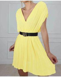 Φόρεμα - κώδ. 5670 - κίτρινο