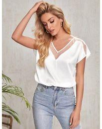 Κοντομάνικο μπλουζάκι - κώδ. 5754 - λευκό