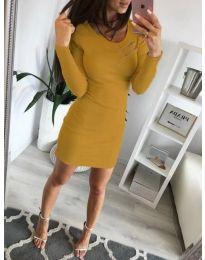 Φόρεμα - κώδ. 3298 - μουσταρδί