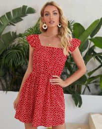 Φόρεμα - κώδ. 6525 - κόκκινο