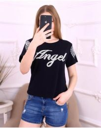 Κοντομάνικο μπλουζάκι - κώδ. 3544 - μαύρο