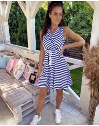 Φόρεμα - κώδ. 3148 - σκούρο μπλε