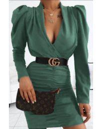 Φόρεμα - κώδ. 953 - σκούρο πράσινο