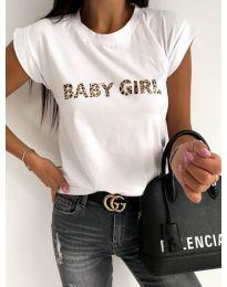 Κοντομάνικο μπλουζάκι - κώδ. 983 - λευκό