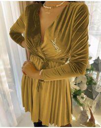 Φόρεμα - κώδ. 8619 - 1 - κίτρινο