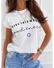 Κοντομάνικο μπλουζάκι - κώδ. 933 - λευκό