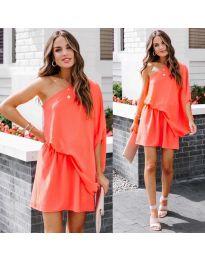 Φόρεμα - κώδ. 9933 - πορτοκαλί