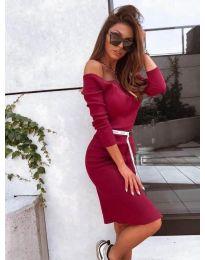 Φόρεμα - κώδ. 4720 - μπορντό